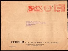 Argentina - 1961 - Lettre - Cachet Spécial - Affranchissement Mécanique - Supersmalt Ferrum - A1RR2 - Lettres & Documents