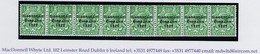 """Ireland 1923 Harrison Saorstat Coils ½d Horiz Strip Of 8 With """"Coil Join"""" Between 1st And 2nd Stamps Mint Unmounted - Unused Stamps"""