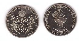St. Helena - 2 Pounds 1990 Comm. UNC Lemberg-Zp - Saint Helena Island