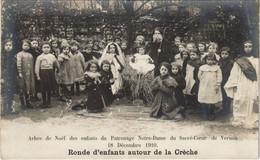 CPA VERNON - Ronde D'enfants Autour De La Creche; Carte Photo (148311) - Vernon