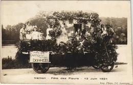CPA VERNON - Fete Des Fleurs En 1921 - Carte Photo (148394) - Vernon