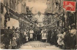 CPA VERNON - Concours De Gymnastique 1909 - La Rue Aux Huilliers (148395) - Vernon