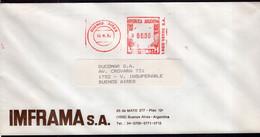 Argentina - 1992 - Lettre - Cachet Spécial - Affranchissement Mécanique - IMFRAMA SA - A1RR2 - Cartas