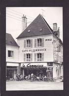 """36  LA CHÂTRE  Place Du Marché Et Café-Hôtel """"Chez Maurice"""" 1976   9,5X14  2 Scans - La Chatre"""