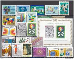 UNO Wien 1979-1981, 1-22, Postfrisch **, Komplette Jahrgänge - Nuevos