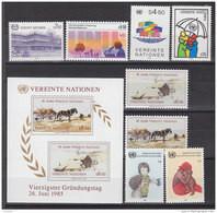 UNO Wien 1985, 47-54, Postfrisch **, Kompletter Jahrgang - Nuevos