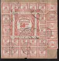 France Taxe N°47 Oblitéré 30 Timbres Au Verso D'une Lettre (fragment) Cote 2100€. - 1859-1955 Used