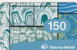 Norway, TEL-MOB-003, Telenor Mobil-Etthundreogfemti Kroner….., 2 Scans. - Noruega