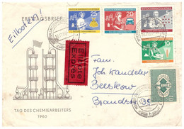 Germany 1960 DDR, Letter With Express Service Sent From Neubrandenburg On 11/18/60 To Beeskow - Cartas