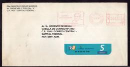 Argentina - 1999 - Courrier Privé Mail Corp - Circulé - Envoyé En Buenos Aires - Bandeleta Parlante - A1RR2 - Cartas
