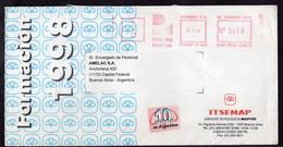 Argentina - 1998 - Lettre - Courrier Privé Rowing SA - Circulé - Envoyé En Buenos Aires - ITSEMAP - A1RR2 - Cartas