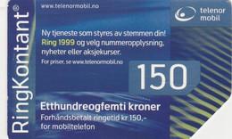 Norway, TEL-MOB-?, Telenor Mobil 150, Ring 1999, 2 Scans. - Noruega