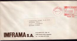 Argentina - 1992 - Lettre - Cachet Spécial - Affranchissement Mécanique - MTM Telas Metalicas - A1RR2 - Cartas