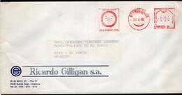 Argentina - 1992 - Lettre - Cachet Spécial - Affranchissement Mécanique - Ricardo Gilligan SA - A1RR2 - Cartas