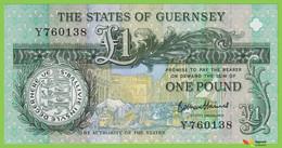 Voyo GUERNSEY 1 Pound  ND(2016) P52d B157d Y UNC - Guernsey
