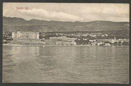 Porto Re (Portore) = Kraljevica, View From The Sea, Old PPC From 1908, Send To Holland - Croatie