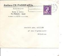 Belgique  ( Lettre De 1952 En - 10% De Gand Vers Bruxelles à Voir) - Cartas