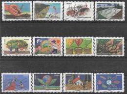 2011 FRANCE Adhesif 526-37 Oblitérés, Terre, écologie,  Série Complète - Adhésifs (autocollants)