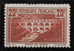 France N° 262B** Pont Du Gard Dentelé 11 Cote 2400€ - Ungebraucht
