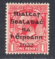 Ireland 1922 Mint Mounted, Scarlet, Sc# ,SG 2 - Unused Stamps