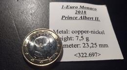 1 Euro Monaco. Prince Albert II - Monaco