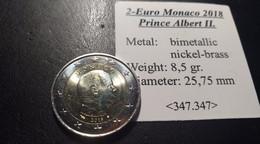2 Euros Monaco. Prince Albert II - Monaco