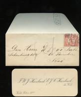 1915 Zeer Klein Envelopje F.W.J. Hazebroek E.J.C. Hazebroek-de Kok Korte Poten 28a Den Haag (zegel Defect) (BT-36) - Covers & Documents