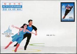Korea 2006. Winter Olympics, Turin (Mint) Aerogram - Corea Del Norte