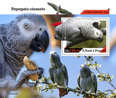 Sao Tome&Principe 2020 Grey Parrot. (623b) OFFICIAL ISSUE - Parrots