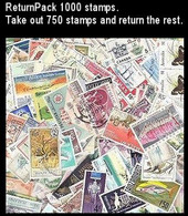 ReturnPack British Commonwealth 2500 STAMPS Off Paper Kiloware StampBag Take Out 2000 Stamps Return Rest. All For +€10 - Lots & Kiloware (mixtures) - Min. 1000 Stamps