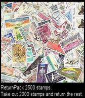 ReturnPack British Commonwealth 2500 STAMPS Off Paper Kiloware StampBag Take Out 2000 And Return The Rest. All For +€10 - Lots & Kiloware (mixtures) - Min. 1000 Stamps