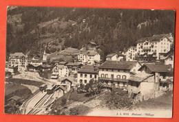 ZKA-04  Finhaut Vue Rapprochée Du Village Gare Train Ligne Martigny - Châtelard. Circ. 1911 Tampon Hotel Mont-Fleuri - VS Wallis