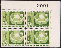 1967. DANMARK. KØBENHAVN 25 øre. 4-Block 2001. (Michel 451x) - JF415182 - Briefe U. Dokumente