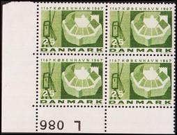 1967. DANMARK. KØBENHAVN 25 øre. 4-Block L 086. (Michel 451y) - JF415183 - Briefe U. Dokumente
