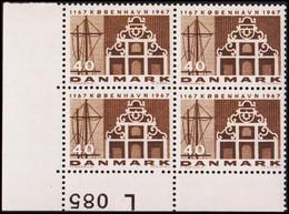 1967. DANMARK. KØBENHAVN 40 øre. 4-Block L 085. (Michel 452y) - JF415184 - Briefe U. Dokumente