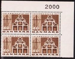 1967. DANMARK. KØBENHAVN 40 øre. 4-Block 2000. (Michel 452x) - JF415185 - Briefe U. Dokumente