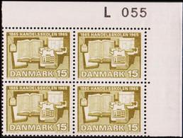 1965. DANMARK. HANDELSSKOLEN 15 øre. 4-Block L 055. (Michel 426y) - JF415187 - Briefe U. Dokumente