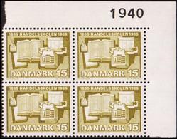 1965. DANMARK. HANDELSSKOLEN 15 øre. 4-Block 1940. (Michel 426x) - JF415188 - Briefe U. Dokumente