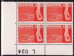 1963. DANMARK. HJÆLP TIL FYSISK HÆMMEDE 35 + 10 øre. 4-Block L 024. (Michel 415y) - JF415189 - Briefe U. Dokumente