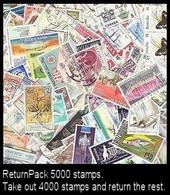 ReturnPack British Commonwealth 5000 STAMPS Off Paper Kiloware StampBag Take Out 4000 Stamps  Return Rest. All For +€20 - Lots & Kiloware (mixtures) - Min. 1000 Stamps