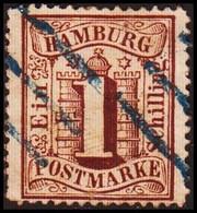1864-1867. HAMBURG. Stadtwappen. 1 Schilling.  () - JF415317 - Hambourg