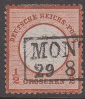 1872. DEUTSCHE REICHS-POST. Kleinem Brustschild ½ GROSCHEN  (Michel 14) - JF415342 - Oblitérés