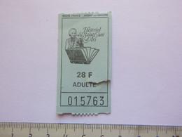 Ticket D'entrée - Historial Du Saint Curé D'Ars - Argent Sur Sauldre - (Attention : Trace De Charnière Au Dos) - Tickets - Entradas