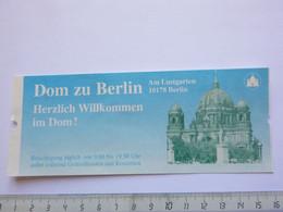 Ticket D'entrée - Berliner Dom - Cathédrale De Berlin - (Attention : Trace De Charnière Au Dos) - Tickets - Entradas