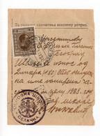 1929 YUGOSLAVIA, SERBIA, KRALJEVO - SELO, PRIMARY SCHOOL, PAYMENT RECEIPT, MAGAZINE SUBSCRIPTION - Covers & Documents