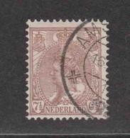 PAYS-BAS  (Y&T) 1898/1923 - N°52   *  Wilhelmine   *   7 1/2c.   Obli () - Used Stamps