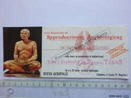 Ticket D'entrée - Nueva Acropolis- Exposition Egyptienne - Espagne - (Attention : Trace De Charnière Au Dos) - Tickets - Entradas