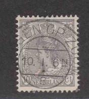 PAYS-BAS  (Y&T) 1898/1923 - N°53   *  Wilhelmine   *   10c.   Obli (BERGEN OP ZOOM) - Used Stamps