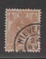 PAYS-BAS  (Y&T) 1898/1923 - N°55   *  Wilhelmine   *   15c.   Obli (HILVERSUM) - Used Stamps