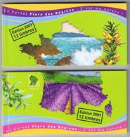 Lot De Dos De Carnet Sans Les Timbres - Le Carnet Flore Des Régions. - Autres